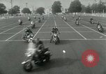 Image of Motorcycle policemen Los Angeles California USA, 1953, second 7 stock footage video 65675020700