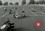 Image of Motorcycle policemen Los Angeles California USA, 1953, second 10 stock footage video 65675020700