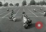 Image of Motorcycle policemen Los Angeles California USA, 1953, second 12 stock footage video 65675020700