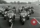 Image of Motorcycle policemen Los Angeles California USA, 1953, second 20 stock footage video 65675020700