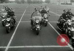 Image of Motorcycle policemen Los Angeles California USA, 1953, second 23 stock footage video 65675020700