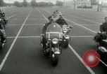 Image of Motorcycle policemen Los Angeles California USA, 1953, second 24 stock footage video 65675020700