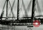 Image of Captain Pedersen of Whaler Herman trades with Eskimos Indian Point Alaska USA, 1915, second 9 stock footage video 65675020846