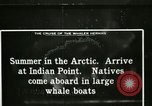 Image of Captain Pedersen of Whaler Herman trades with Eskimos Indian Point Alaska USA, 1915, second 36 stock footage video 65675020846