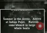 Image of Captain Pedersen of Whaler Herman trades with Eskimos Indian Point Alaska USA, 1915, second 37 stock footage video 65675020846
