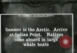 Image of Captain Pedersen of Whaler Herman trades with Eskimos Indian Point Alaska USA, 1915, second 38 stock footage video 65675020846