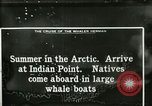 Image of Captain Pedersen of Whaler Herman trades with Eskimos Indian Point Alaska USA, 1915, second 39 stock footage video 65675020846