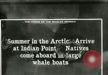 Image of Captain Pedersen of Whaler Herman trades with Eskimos Indian Point Alaska USA, 1915, second 40 stock footage video 65675020846