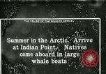 Image of Captain Pedersen of Whaler Herman trades with Eskimos Indian Point Alaska USA, 1915, second 41 stock footage video 65675020846