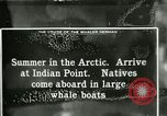 Image of Captain Pedersen of Whaler Herman trades with Eskimos Indian Point Alaska USA, 1915, second 42 stock footage video 65675020846
