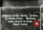 Image of Captain Pedersen of Whaler Herman trades with Eskimos Indian Point Alaska USA, 1915, second 43 stock footage video 65675020846