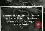 Image of Captain Pedersen of Whaler Herman trades with Eskimos Indian Point Alaska USA, 1915, second 44 stock footage video 65675020846