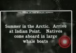 Image of Captain Pedersen of Whaler Herman trades with Eskimos Indian Point Alaska USA, 1915, second 45 stock footage video 65675020846