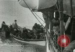 Image of Captain Pedersen of Whaler Herman trades with Eskimos Indian Point Alaska USA, 1915, second 51 stock footage video 65675020846
