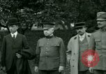 Image of President Woodrow Wilson inspects bomber aircraft Washington DC Bolling Field USA, 1918, second 11 stock footage video 65675020880