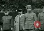 Image of President Woodrow Wilson inspects bomber aircraft Washington DC Bolling Field USA, 1918, second 14 stock footage video 65675020880