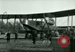 Image of President Woodrow Wilson inspects bomber aircraft Washington DC Bolling Field USA, 1918, second 38 stock footage video 65675020880