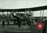 Image of President Woodrow Wilson inspects bomber aircraft Washington DC Bolling Field USA, 1918, second 39 stock footage video 65675020880
