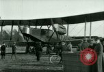 Image of President Woodrow Wilson inspects bomber aircraft Washington DC Bolling Field USA, 1918, second 40 stock footage video 65675020880