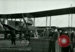 Image of President Woodrow Wilson inspects bomber aircraft Washington DC Bolling Field USA, 1918, second 46 stock footage video 65675020880