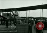 Image of President Woodrow Wilson inspects bomber aircraft Washington DC Bolling Field USA, 1918, second 47 stock footage video 65675020880