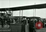 Image of President Woodrow Wilson inspects bomber aircraft Washington DC Bolling Field USA, 1918, second 50 stock footage video 65675020880