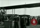 Image of President Woodrow Wilson inspects bomber aircraft Washington DC Bolling Field USA, 1918, second 53 stock footage video 65675020880
