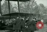 Image of President Woodrow Wilson inspects bomber aircraft Washington DC Bolling Field USA, 1918, second 59 stock footage video 65675020880