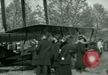 Image of President Woodrow Wilson inspects bomber aircraft Washington DC Bolling Field USA, 1918, second 60 stock footage video 65675020880