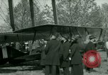 Image of President Woodrow Wilson inspects bomber aircraft Washington DC Bolling Field USA, 1918, second 61 stock footage video 65675020880