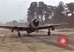 Image of P-47 and P-38 aircraft operating from St.Mere Eglise Saint Mere Eglise France, 1944, second 8 stock footage video 65675020911