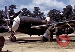Image of P-47 and P-38 aircraft operating from St.Mere Eglise Saint Mere Eglise France, 1944, second 18 stock footage video 65675020911