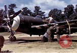 Image of P-47 and P-38 aircraft operating from St.Mere Eglise Saint Mere Eglise France, 1944, second 19 stock footage video 65675020911