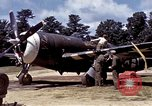 Image of P-47 and P-38 aircraft operating from St.Mere Eglise Saint Mere Eglise France, 1944, second 20 stock footage video 65675020911