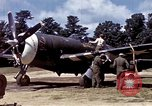 Image of P-47 and P-38 aircraft operating from St.Mere Eglise Saint Mere Eglise France, 1944, second 23 stock footage video 65675020911