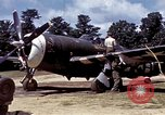 Image of P-47 and P-38 aircraft operating from St.Mere Eglise Saint Mere Eglise France, 1944, second 26 stock footage video 65675020911