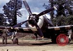 Image of P-47 and P-38 aircraft operating from St.Mere Eglise Saint Mere Eglise France, 1944, second 29 stock footage video 65675020911