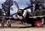 Image of P-47 and P-38 aircraft operating from St.Mere Eglise Saint Mere Eglise France, 1944, second 30 stock footage video 65675020911