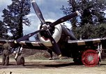 Image of P-47 and P-38 aircraft operating from St.Mere Eglise Saint Mere Eglise France, 1944, second 31 stock footage video 65675020911