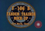 Image of F-106B Tandem Trainer Fort Worth Texas USA, 1956, second 6 stock footage video 65675020954