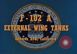 Image of F-102A Edwards Air Force Base California USA, 1956, second 2 stock footage video 65675020955