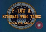 Image of F-102A Edwards Air Force Base California USA, 1956, second 7 stock footage video 65675020955