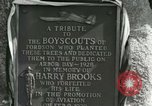 Image of Harry Brooks Memorial Tablet Detroit Michigan USA, 1928, second 46 stock footage video 65675021021