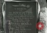Image of Harry Brooks Memorial Tablet Detroit Michigan USA, 1928, second 48 stock footage video 65675021021
