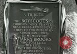 Image of Harry Brooks Memorial Tablet Detroit Michigan USA, 1928, second 49 stock footage video 65675021021