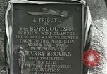 Image of Harry Brooks Memorial Tablet Detroit Michigan USA, 1928, second 50 stock footage video 65675021021