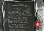 Image of Harry Brooks Memorial Tablet Detroit Michigan USA, 1928, second 53 stock footage video 65675021021