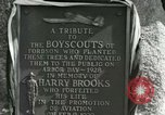 Image of Harry Brooks Memorial Tablet Detroit Michigan USA, 1928, second 54 stock footage video 65675021021