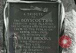 Image of Harry Brooks Memorial Tablet Detroit Michigan USA, 1928, second 55 stock footage video 65675021021