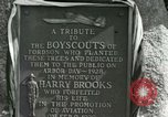 Image of Harry Brooks Memorial Tablet Detroit Michigan USA, 1928, second 59 stock footage video 65675021021